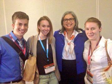 Jess with Texas Representative Jessica Farrar, her personal hero! (She's smiling!)